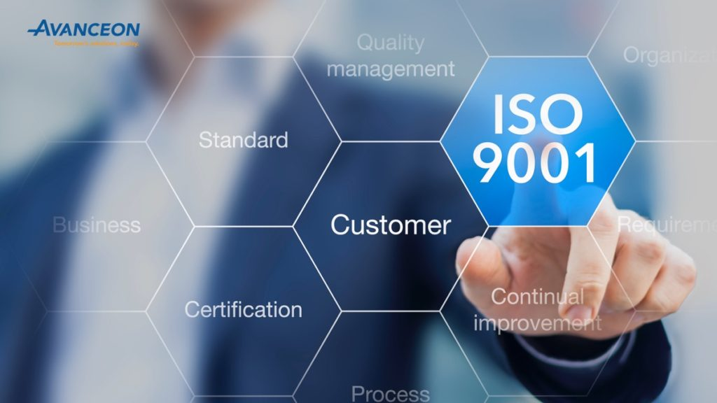 Avanceon certified with ISOf